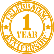 Emblem to celebrate First Year Anniversary